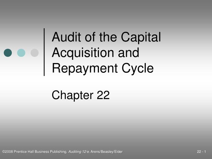 PPT Audit Of The Capital Acquisition And Repayment Cycle
