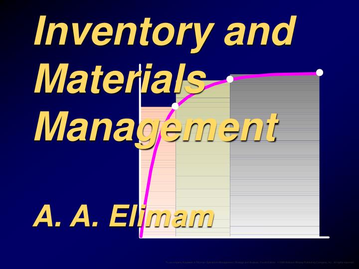 inventory and materials management a a elimam n.