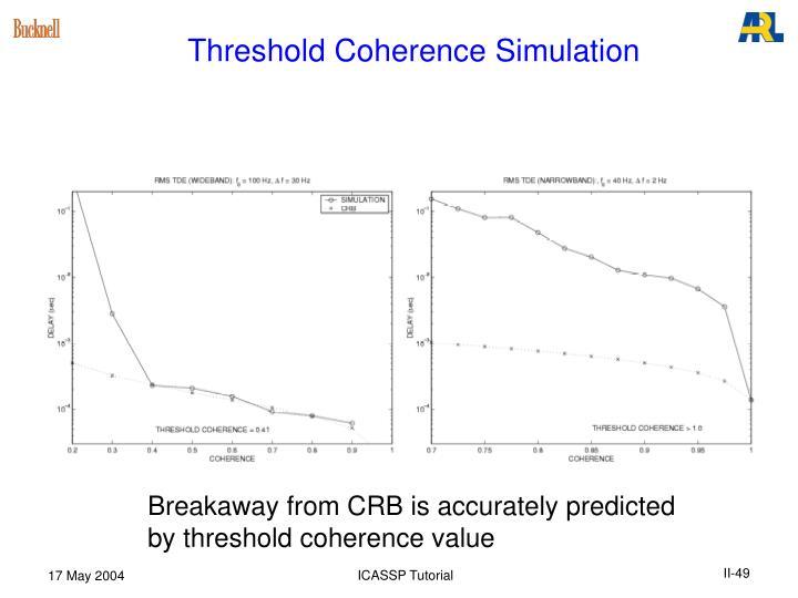 Threshold Coherence Simulation
