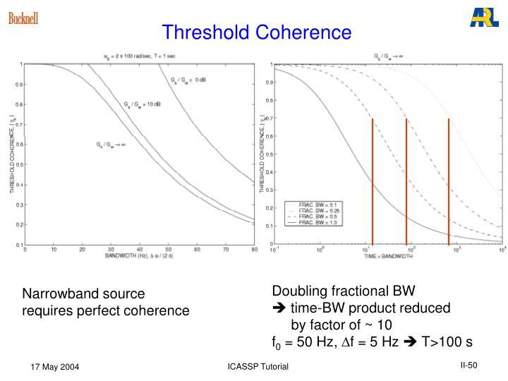 Threshold Coherence