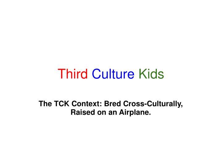 third culture kids n.