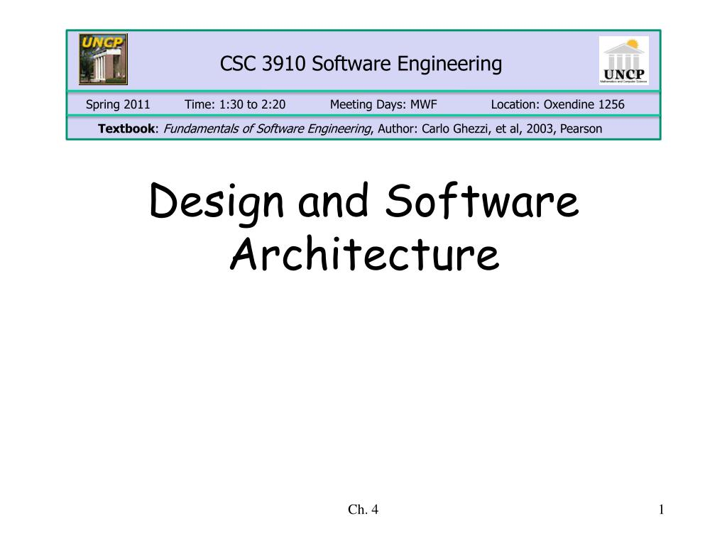 Ppt Design And Software Architecture Powerpoint Presentation Free Download Id 3379676
