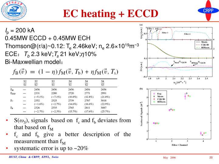 EC heating + ECCD