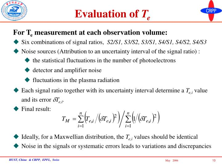 Evaluation of