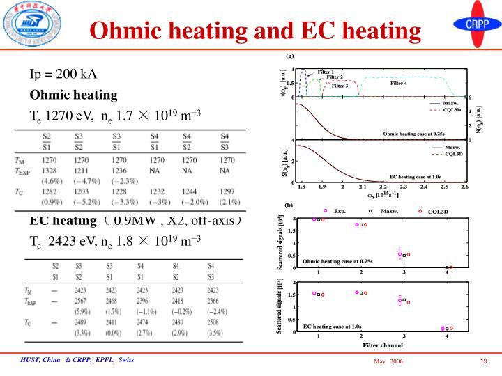 Ohmic heating and EC heating