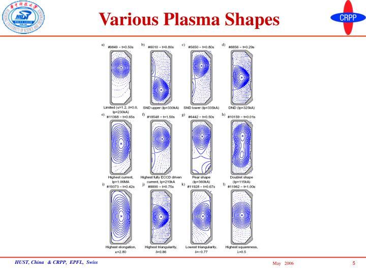 Various Plasma Shapes