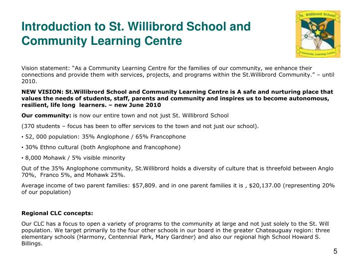Introduction to St. Willibrord School and