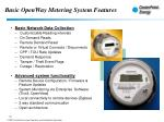 basic openway metering system features