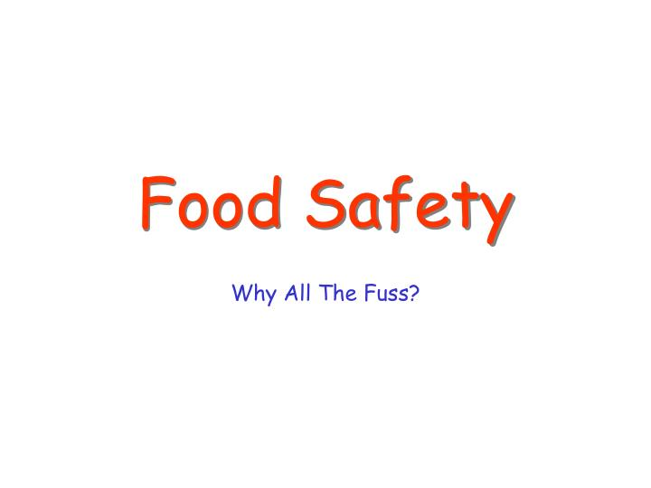 food safety n.