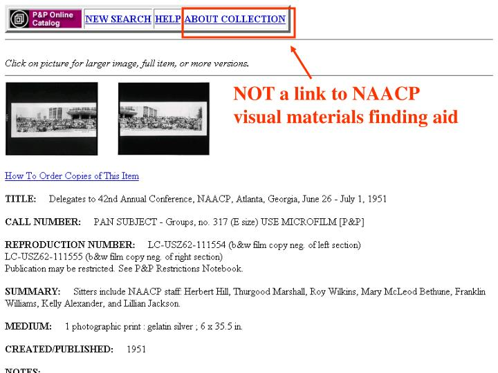 NOT a link to NAACP