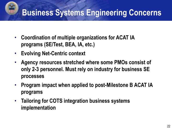 Business Systems Engineering Concerns