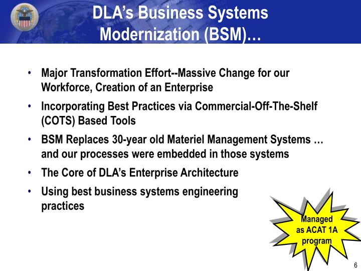 DLA's Business Systems