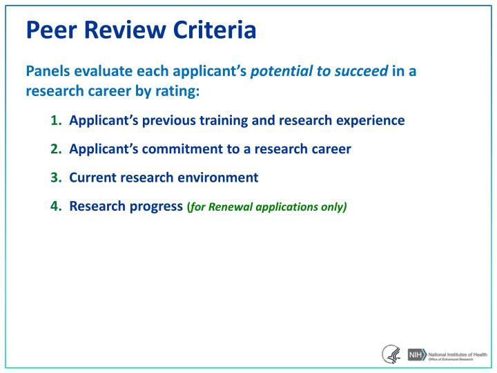 Ppt nih loan repayment programs powerpoint presentation id3380011 peer review criteria thecheapjerseys Gallery