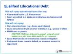 qualified educational debt