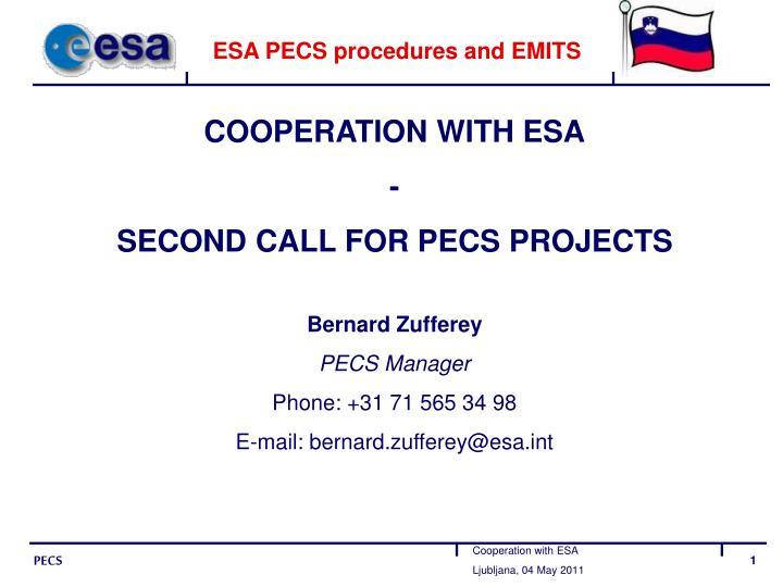 Esa pecs procedures and emits
