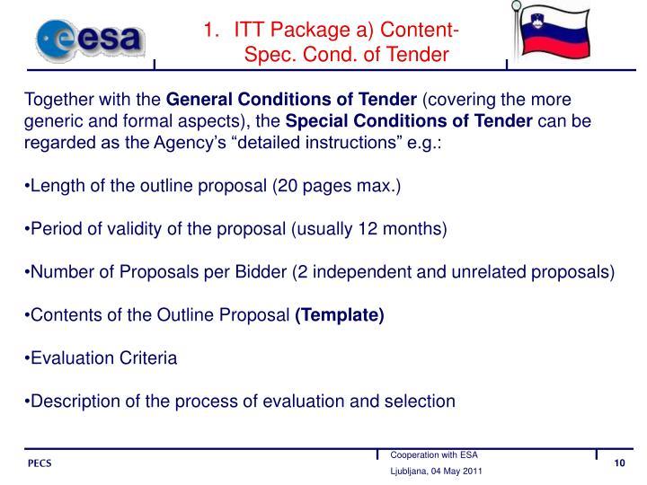 ITT Package a) Content-