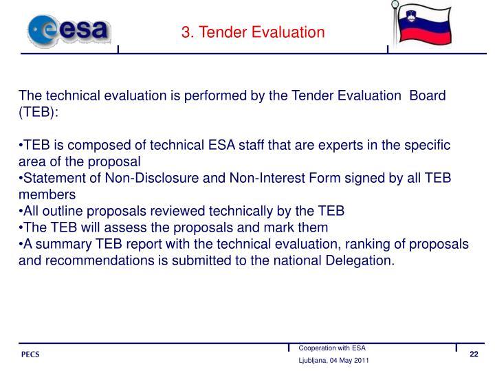 3. Tender Evaluation