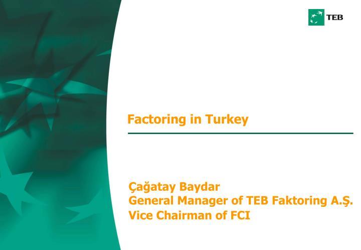 factoring in turkey n.
