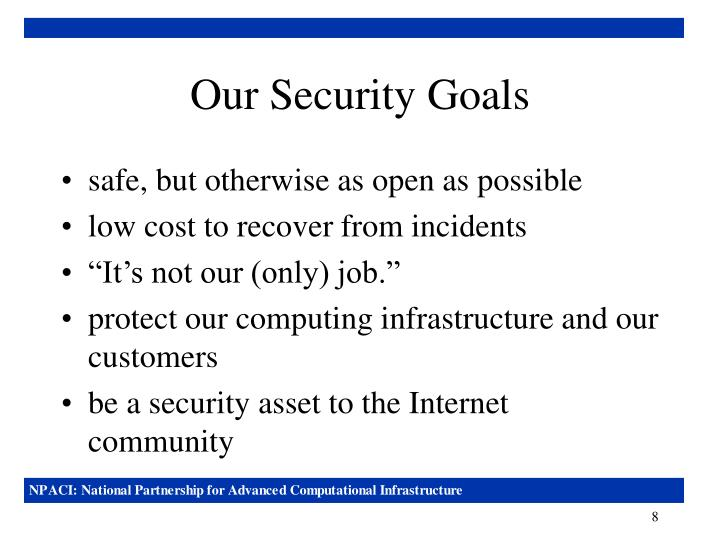 Our Security Goals