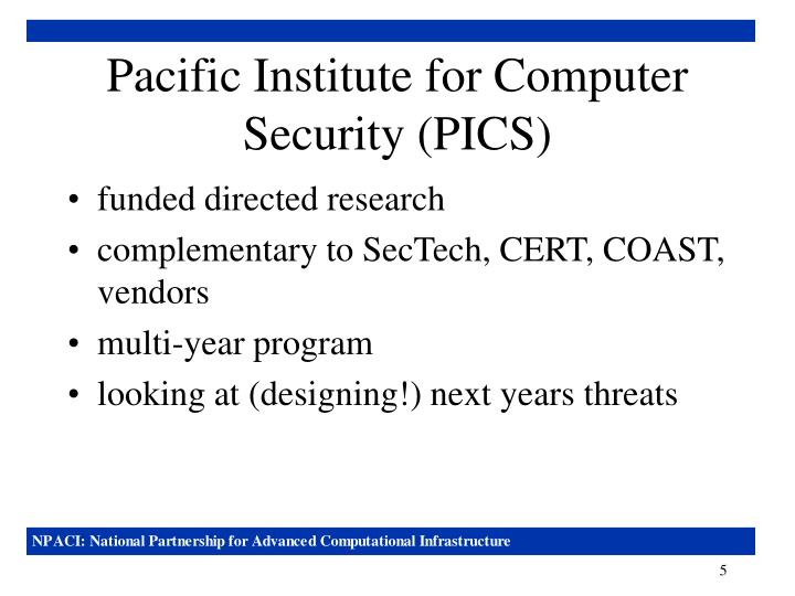Pacific Institute for Computer Security (PICS)