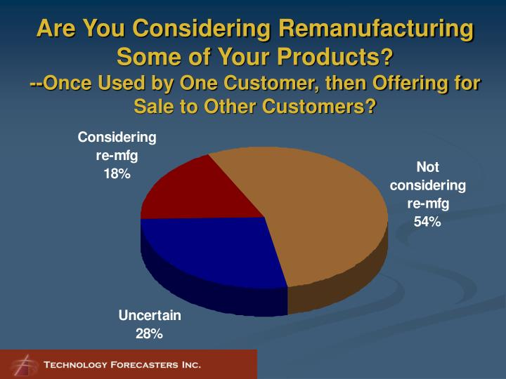 Are You Considering Remanufacturing Some of Your Products
