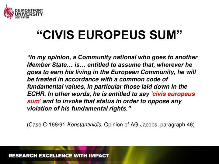 Civis europeus sum