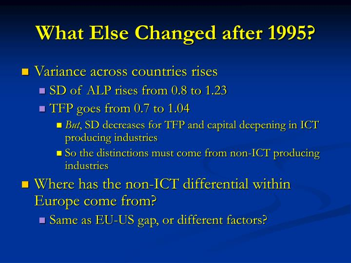 What Else Changed after 1995?