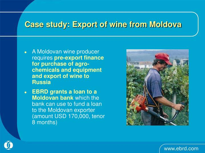 Case study: Export of wine from Moldova