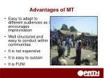 advantages of mt