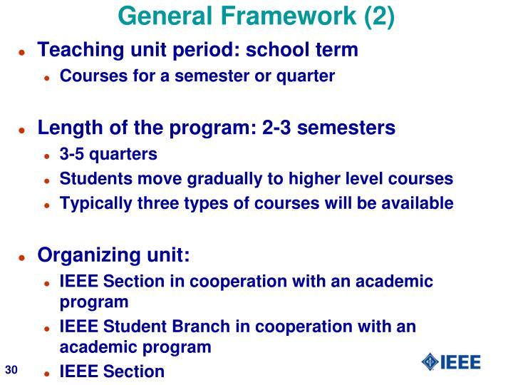 General Framework (2)
