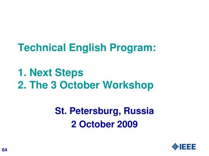 Technical English Program: