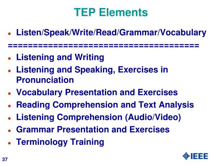 TEP Elements