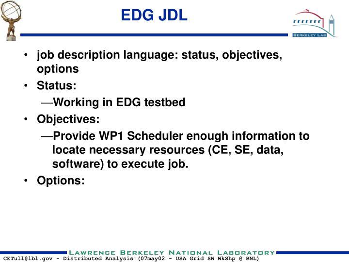 EDG JDL
