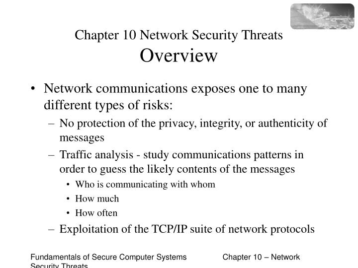 chapter 10 network security threats overview n.