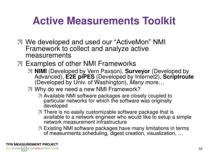 Active Measurements Toolkit