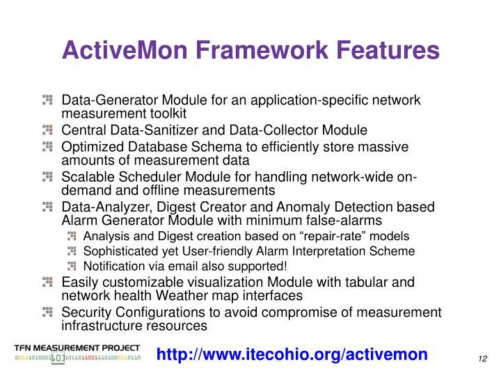 ActiveMon Framework Features