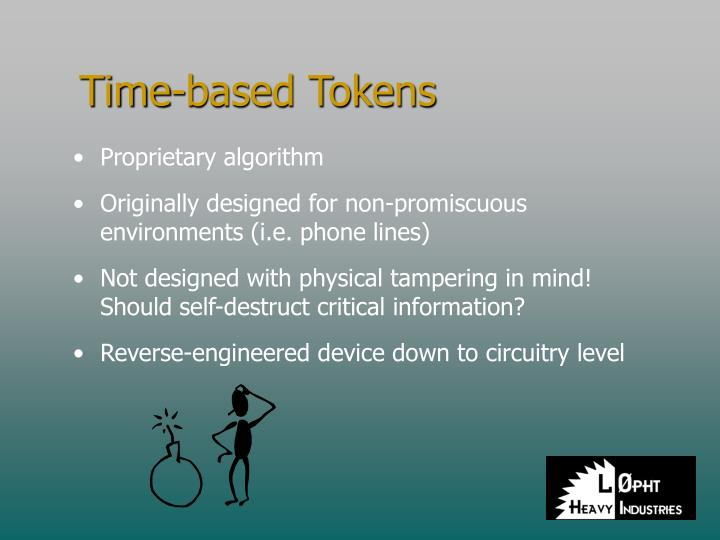 Time-based Tokens
