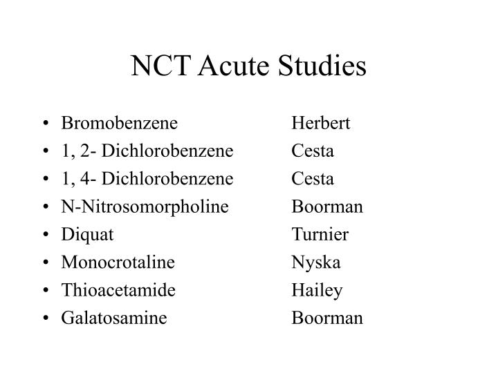 Ppt Nct Acute Studies Powerpoint Presentation Free Download Id 3380899