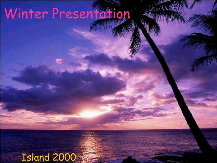 winter presentation n.