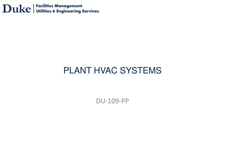 plant hvac systems n.
