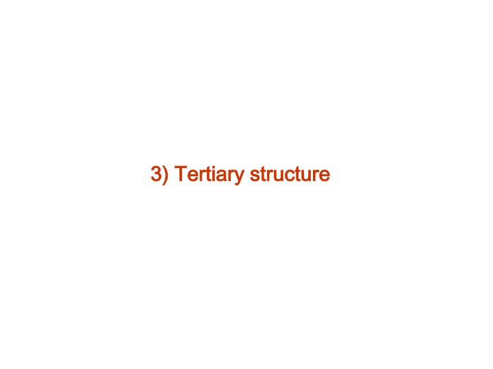 3) Tertiary structure