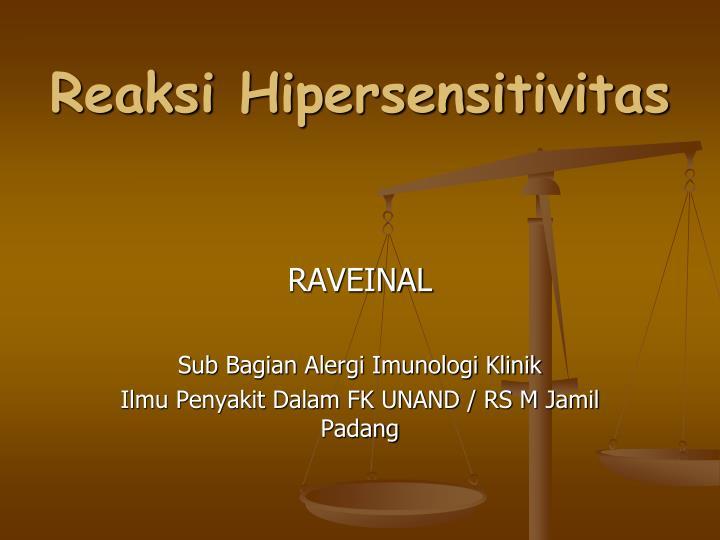 reaksi hipersensitivitas n.
