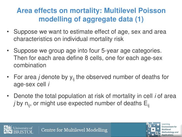 Area effects on mortality: Multilevel Poisson modelling of aggregate data (1)