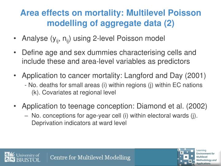 Area effects on mortality: Multilevel Poisson modelling of aggregate data (2)