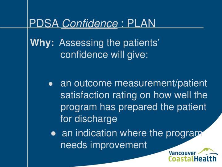 Pdsa confidence plan1