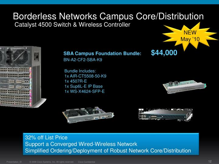Borderless Networks Campus Core/Distribution