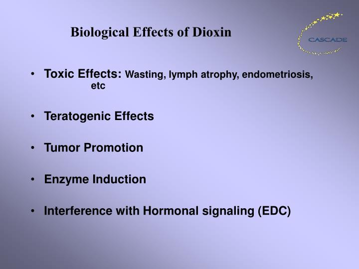 Biological effects of dioxin
