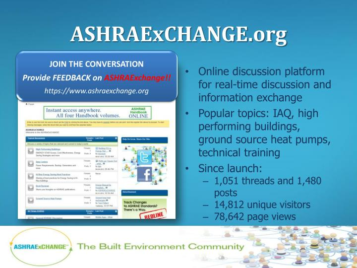 ASHRAExCHANGE.org