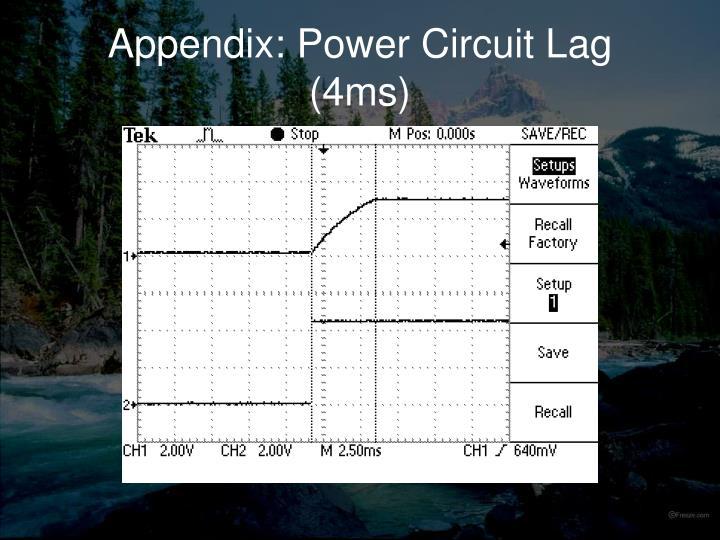 Appendix: Power Circuit Lag