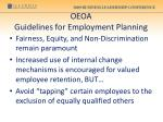 oeoa guidelines for employment planning